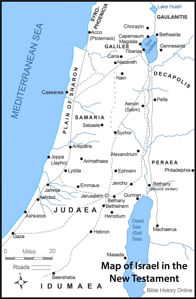Map-Israel-New-Testament-Times-color